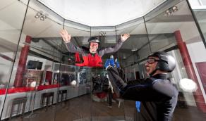 Skydiving indoor